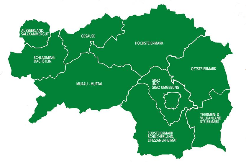 Karte von die Steiermark