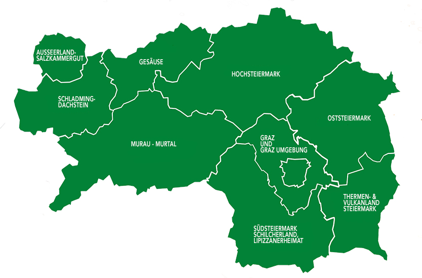 Kaart van de Steiermark